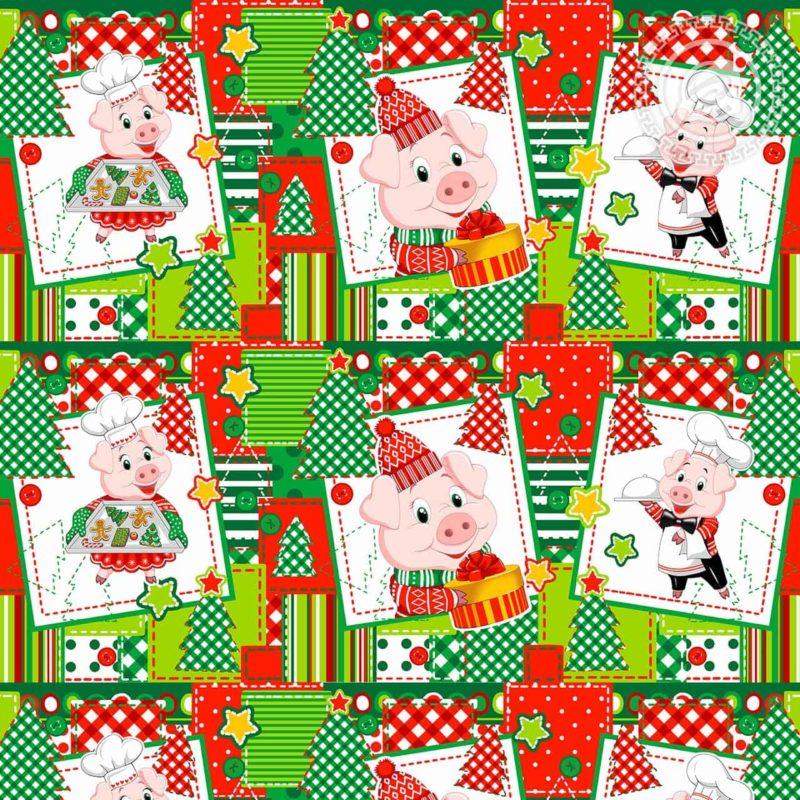 Вафельные полотенца к году свиньи