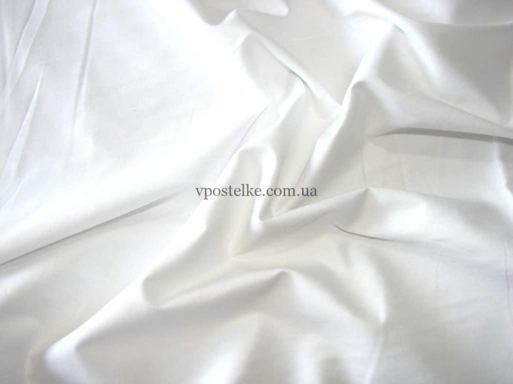 Сатин белого цвета однотонный 250 см