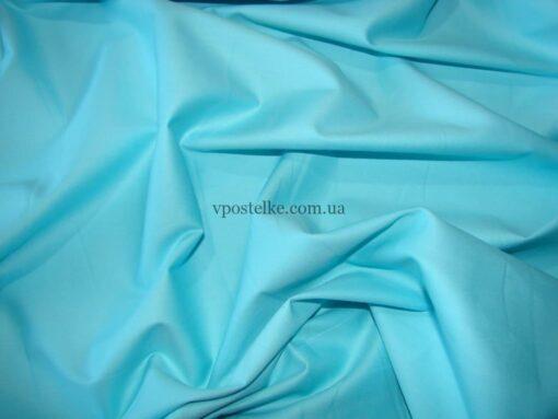 Сатин бирюзового цвета однотонный 250 см