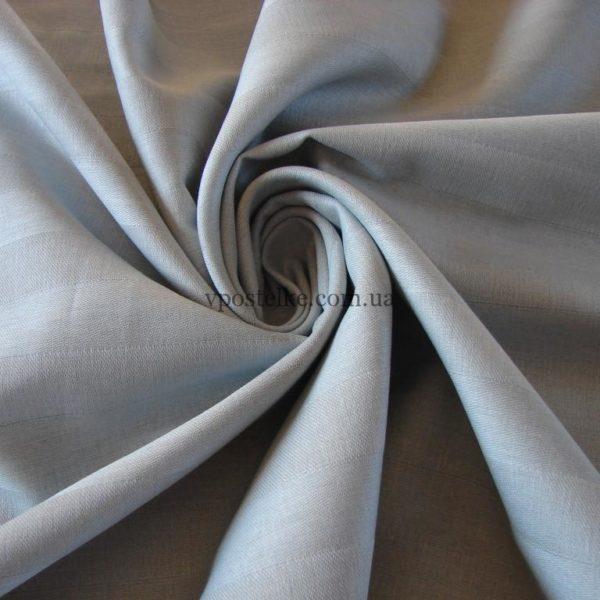 Ткань страйп сатин серого цвета 220 см