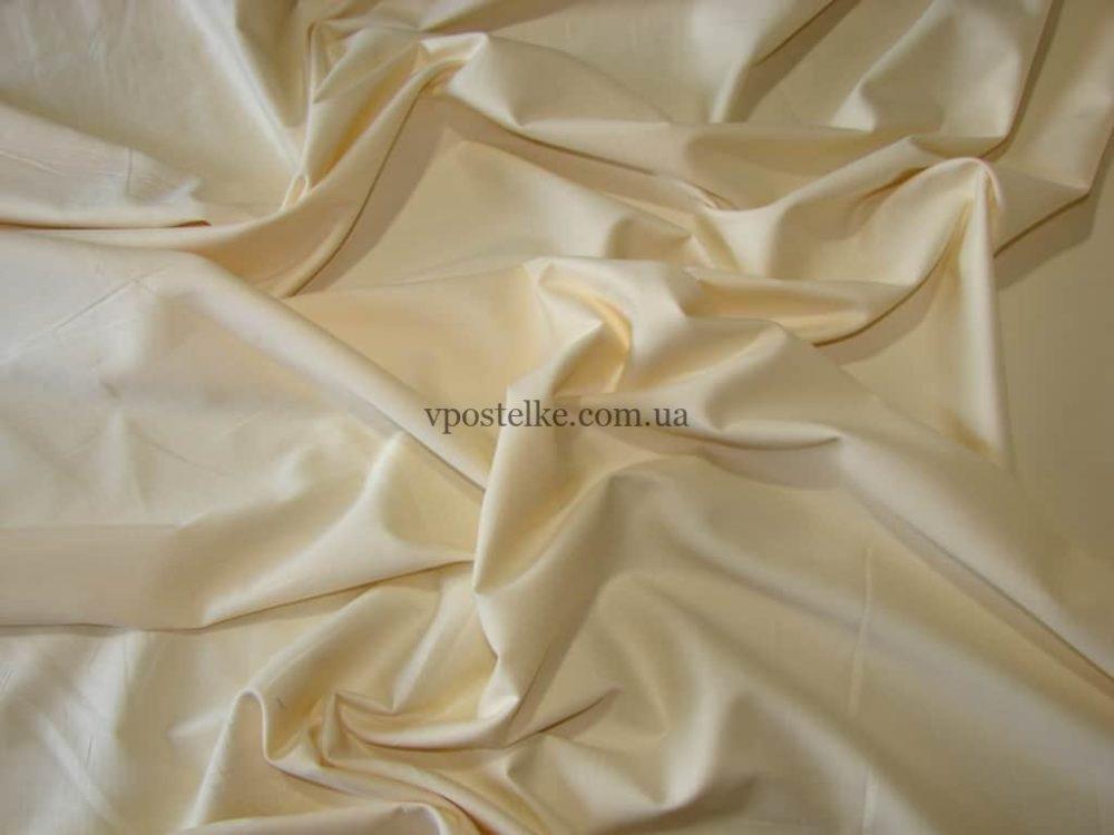 Сатин молочного цвета однотонный 250 см