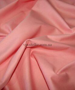 Сатин лососевого цвета однотонный 250 см