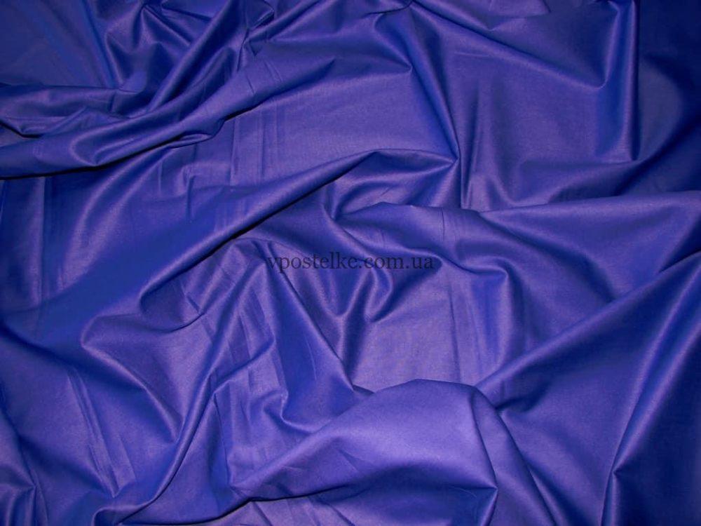 Сатин василькового цвета однотонный 250 см