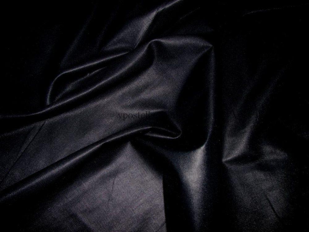 Постельное белье черное однотонное, сатин 100% хлопок