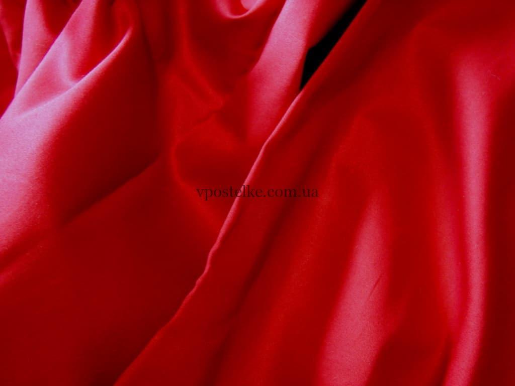 Постельное белье сатин красного цвета