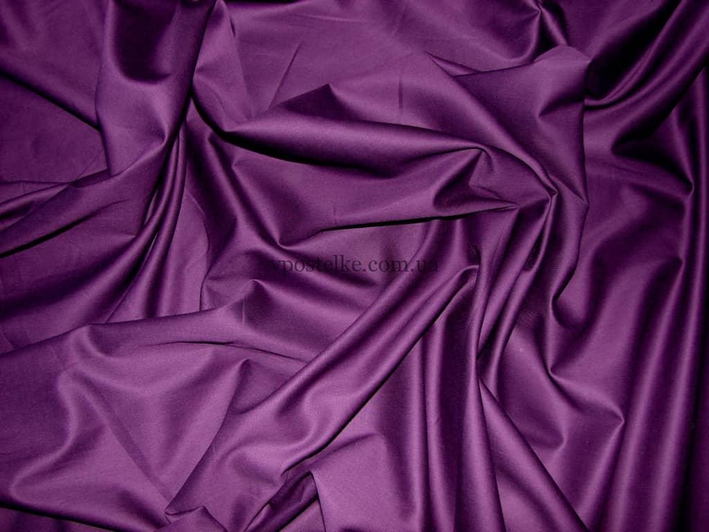 Постельное белье фиолетового цвета сатин