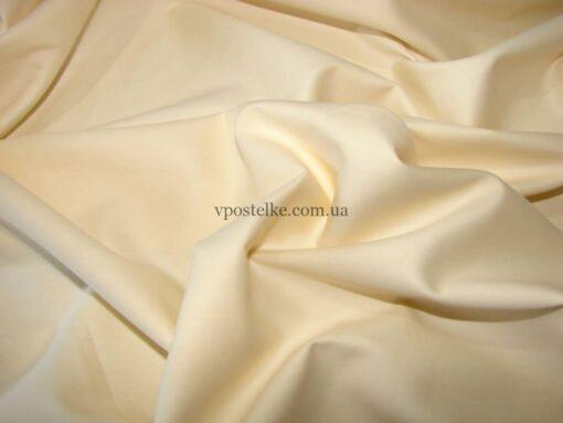 Постельное белье сатиновое молочного цвета