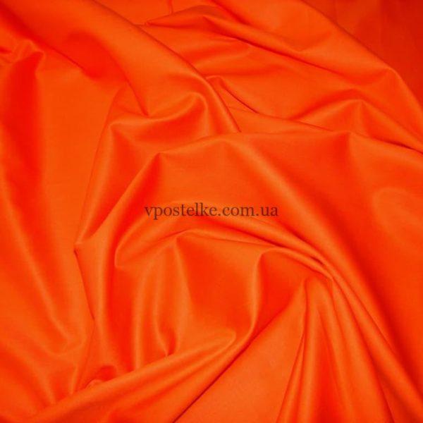 Сатин оранжевого цвета однотонный 250 см