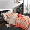 Постельное белье с оранжевыми полосами фото