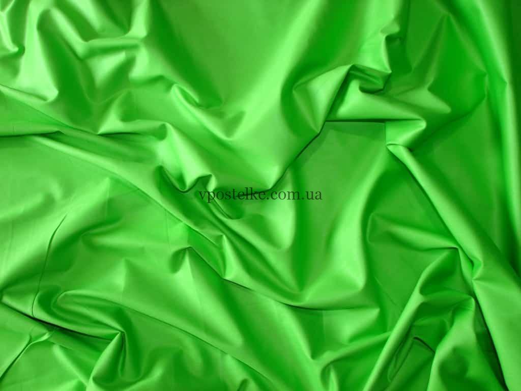 Однотонное постельное белье салатового цвета сатин