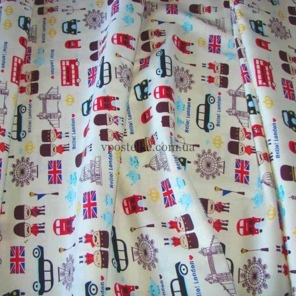 Ткань сатин «Британец» 160 см