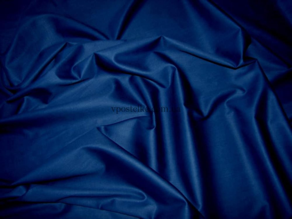 Сатин темно синего цвета однотонный 250 см
