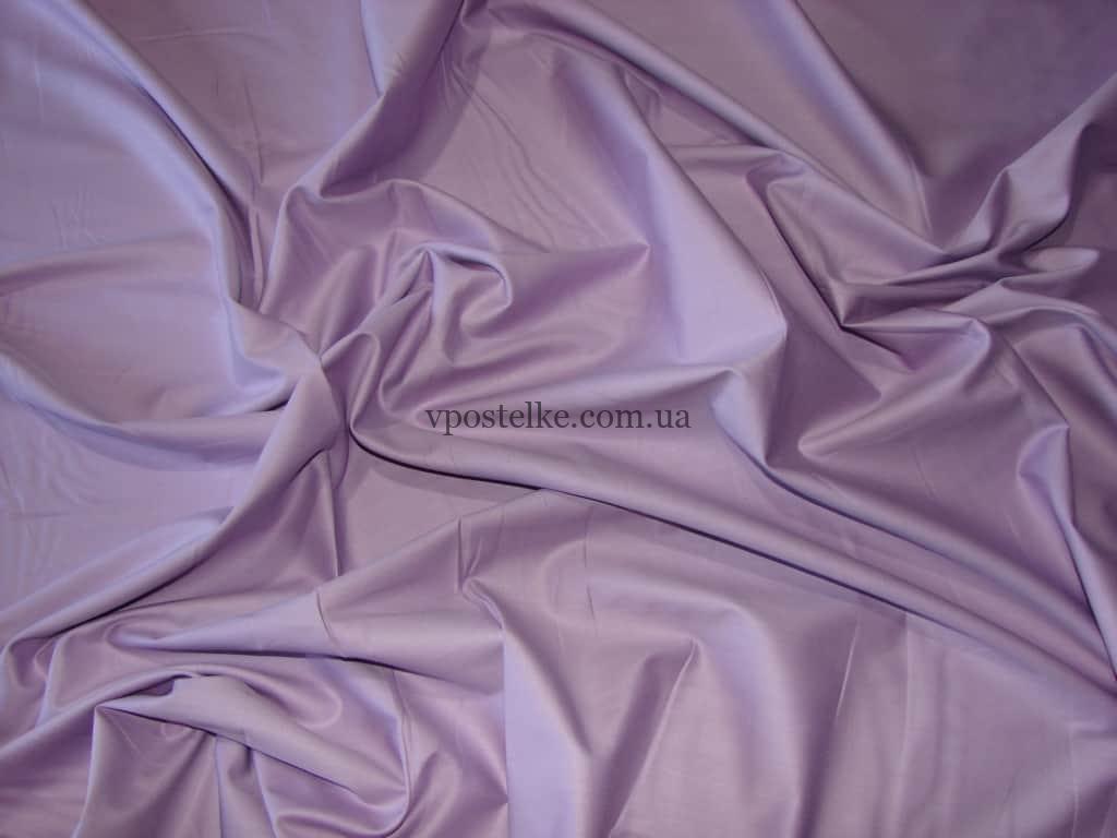 Постельное белье однотонного сиреневого цвета сатин