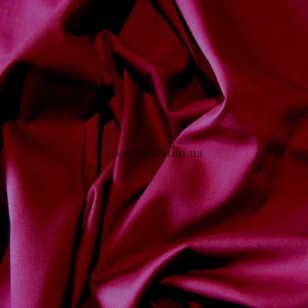 Сатин винного цвета однотонный 250 см