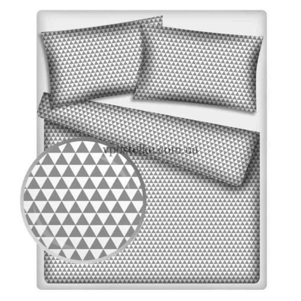 Постельное белье «Треугольники серые»