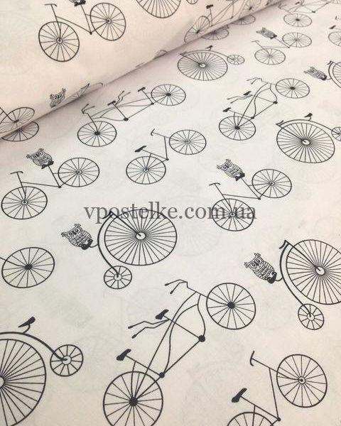 Постельное белье «Велосипеды на белом»