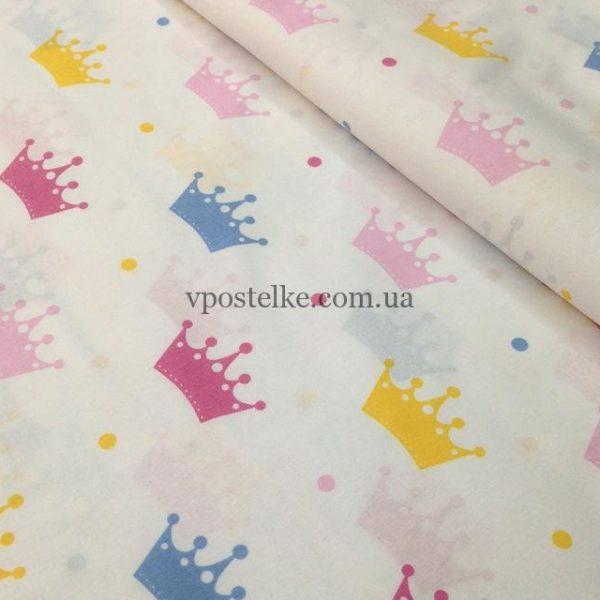 Постельное белье «Короны цветные»