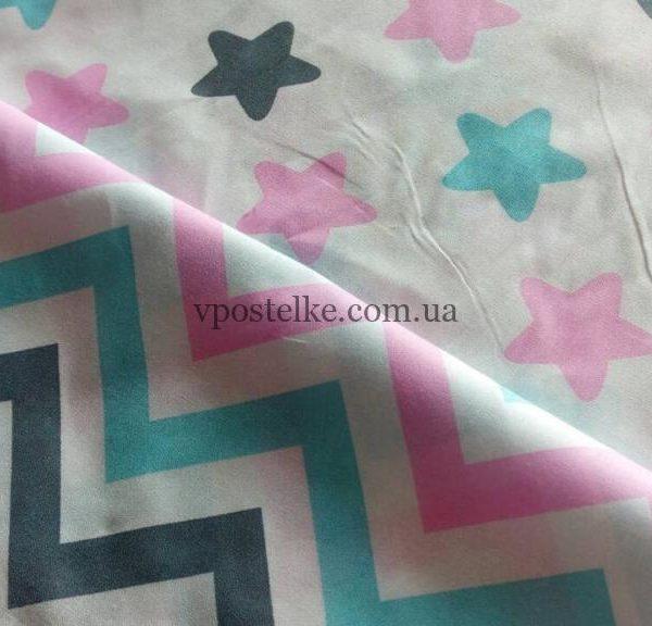 Постельное белье «Пряники розовые и зиг-заг»