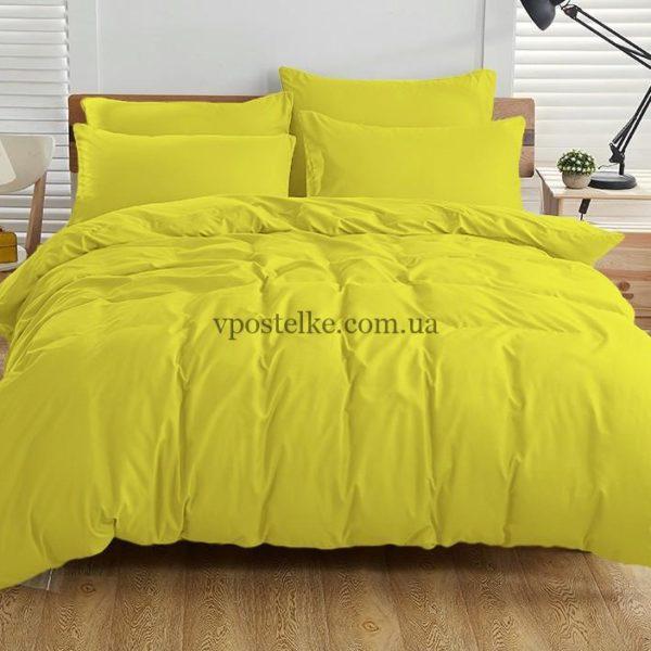Постельное белье однотонное жёлтого цвета