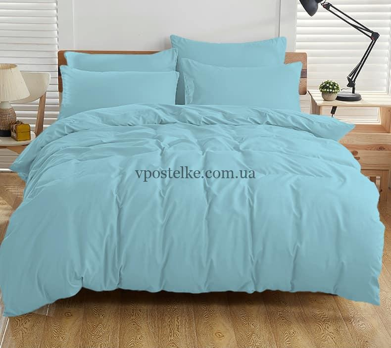 Постельное белье однотонное светло голубого цвета
