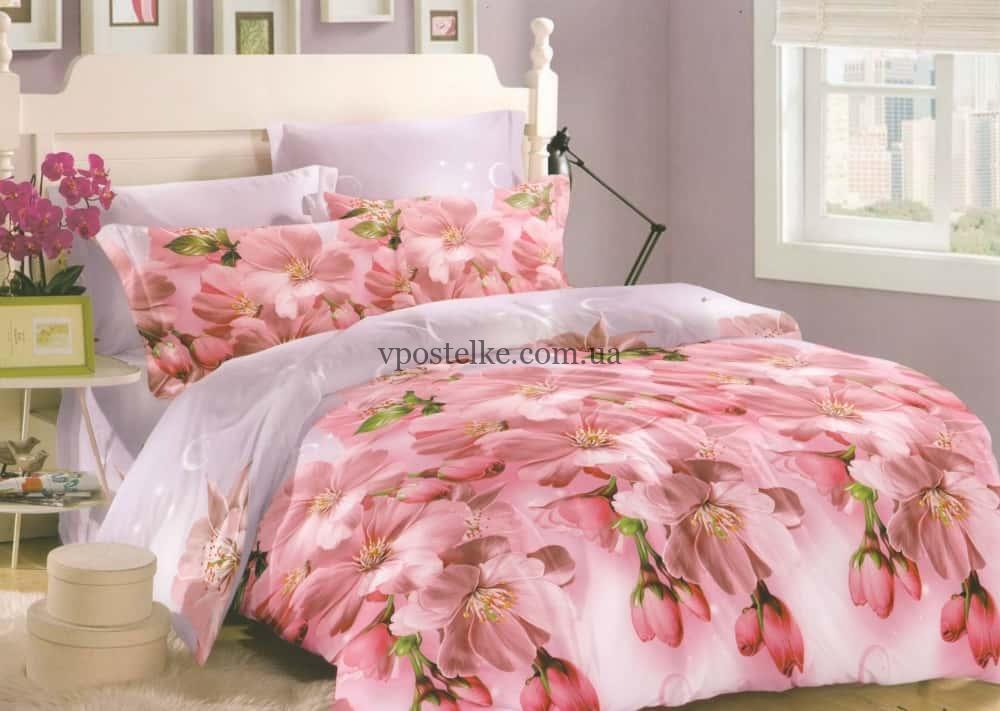 Постельное белье из сатина Персиковый цвет