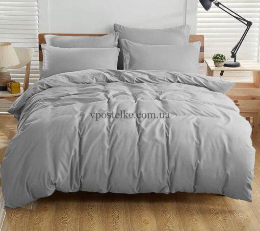 Ткань поплин серого цвета 220 см
