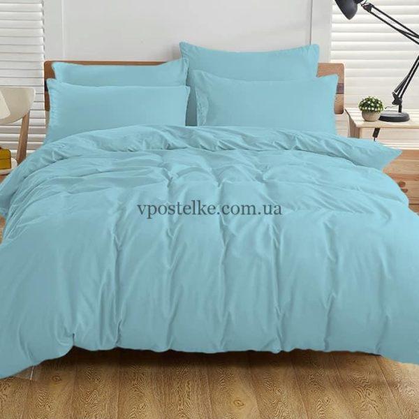 Ткань поплин голубого цвета 220 см