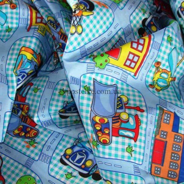 Ткань поплин «Детский парк» 150 см