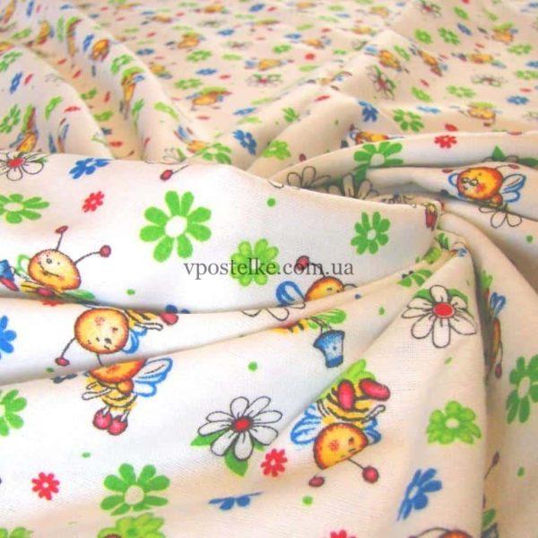 Ткань фланель «Пчела Майя» 230 см