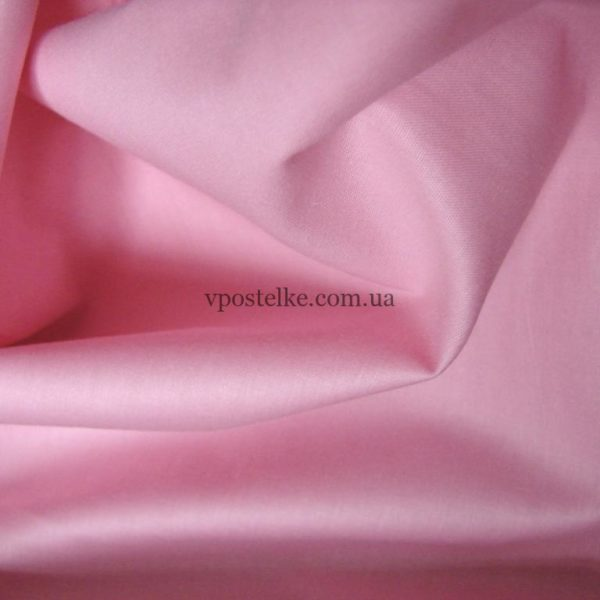Ткань поплин розового цвета 220 см