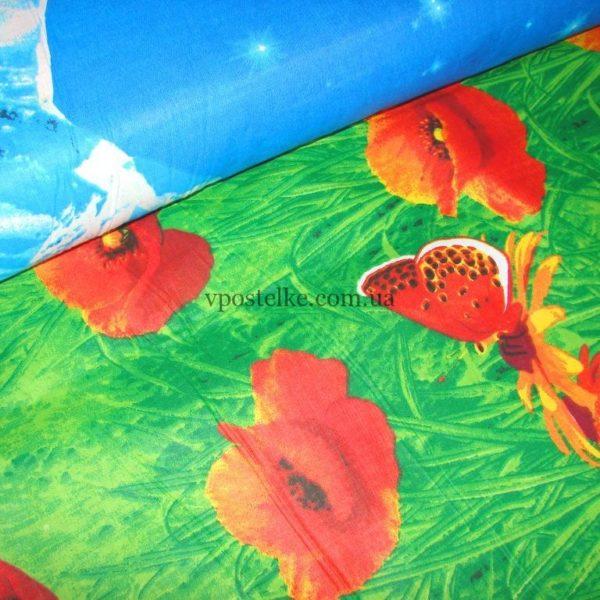 Ткань для постельного белья «Альпийские маки» 220 см