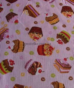 """Ткань для вафельных полотенец """"Пирожное"""" 150 см"""