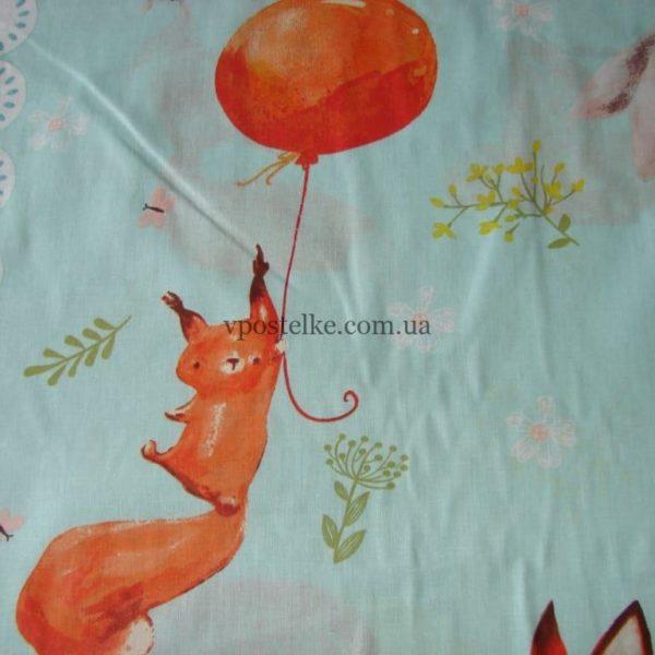 Ткань поплин «Лисёнок и его друзья» 150 см
