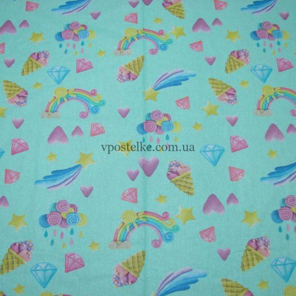 Ткань поплин «Пластилиновый мир» компаньон 150 см