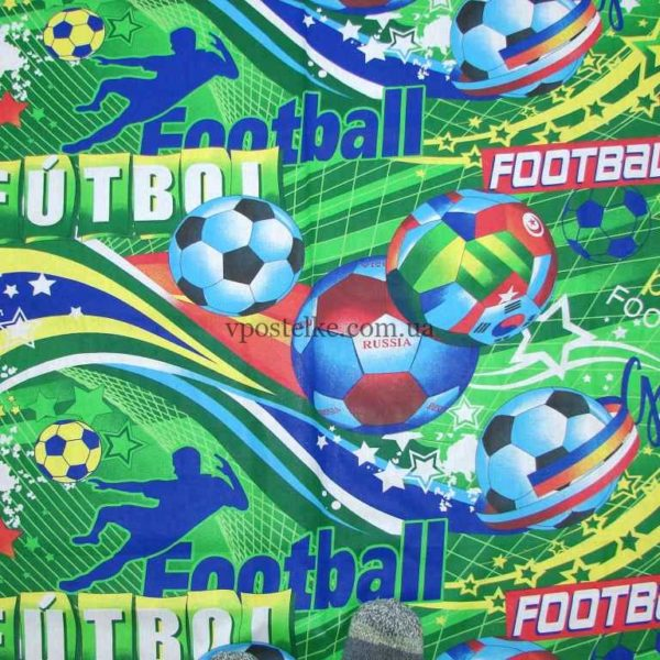 Ткань поплин «Футбол» 150 см