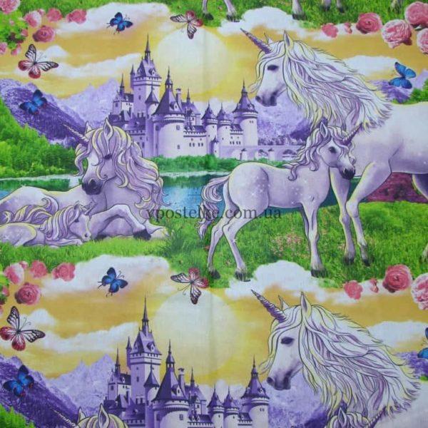 Ткань бязь «Сказочный мир Единорогов» 150 см