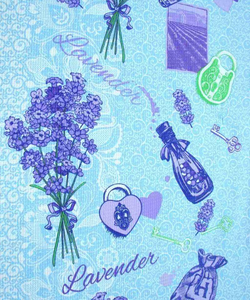 Ткань для вафельных полотенец «Лаванда» 50 см