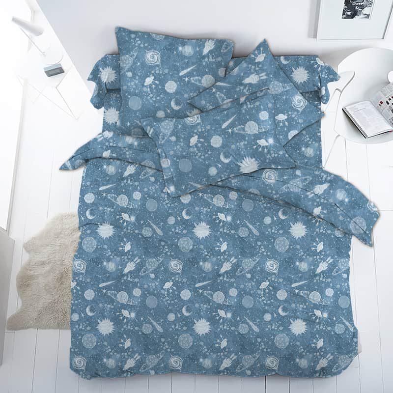 Ткань поплин «Галактика» 150 см