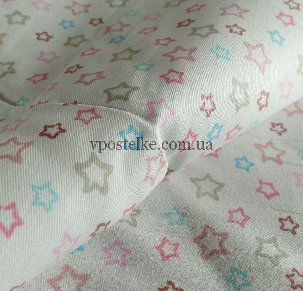 Ткань сатин «Звёзды мелкие» 160 см