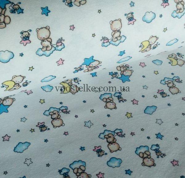 Ткань фланель «Играем со звёздами» 180 см