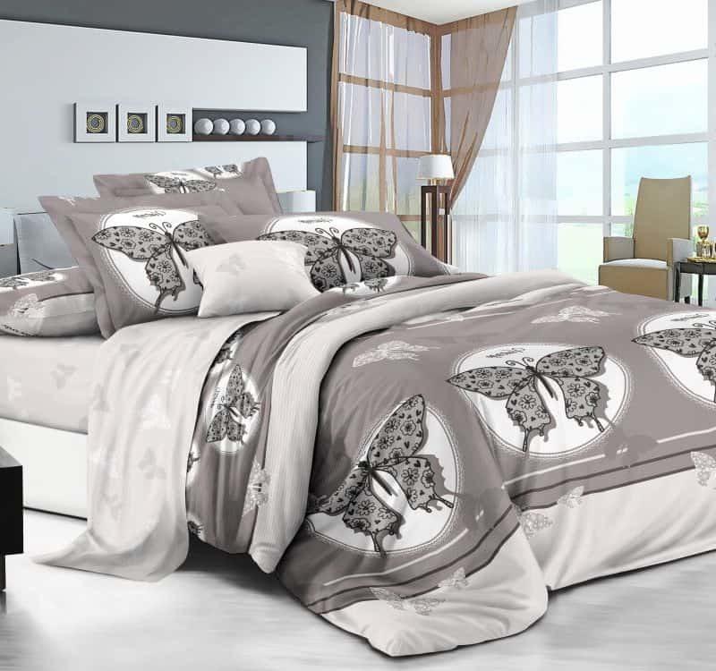 Ткань сатин «Мотыльки» компаньон 220 см
