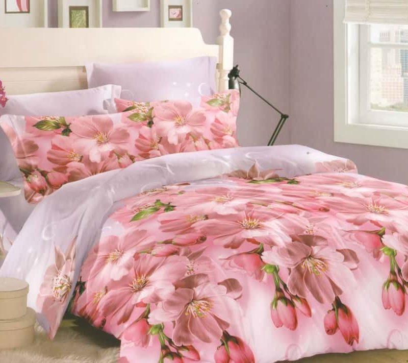 Ткань сатин «Персиковый цвет» основа 220 см
