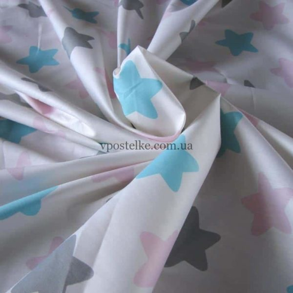 Ткань сатин «Пряники розовые» 160 см