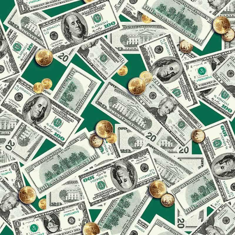 Ткань для вафельных полотенец «Доллары» 150 см