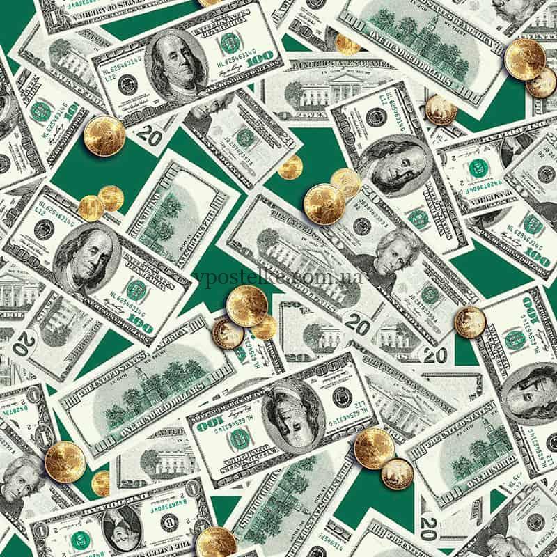 """Ткань для вафельных полотенец """"Доллары"""" 150 см"""