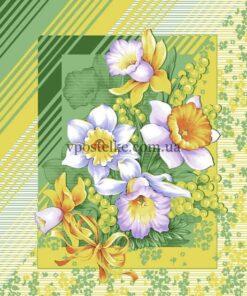"""Ткань для вафельных полотенец """"Утренние цветы"""" 50 см"""
