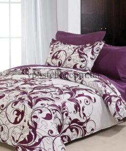 """Ткань фланель """"Вензель фиолетовый"""" основа 230 см"""