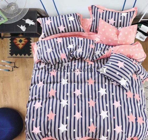 Ткань сатин «Звезды на полосках» компаньон 160 см