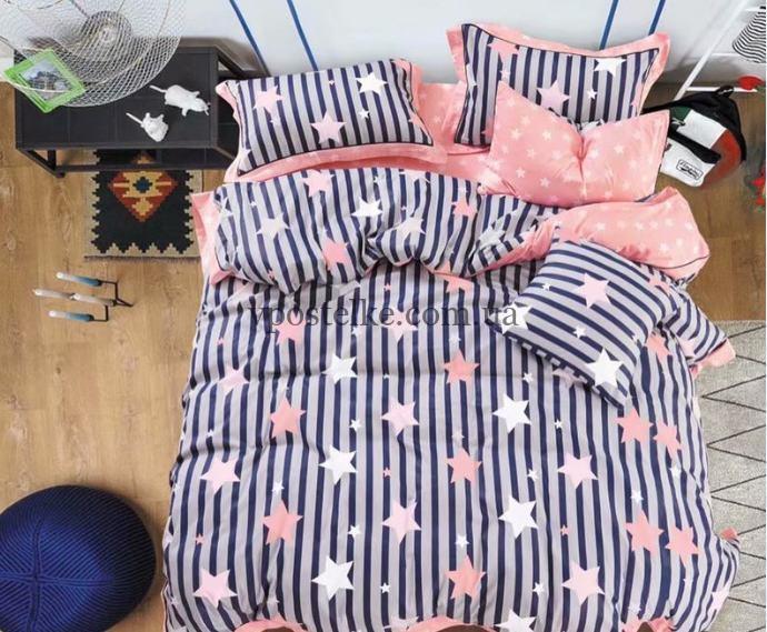 Ткань сатин «Звезды на полосках» основа 160 см