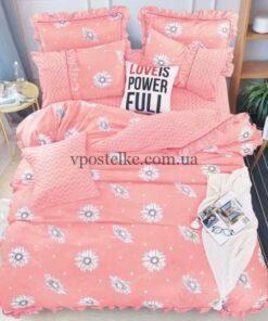 """Ткань сатин """"Зиг-заг розовый"""" 160 см"""